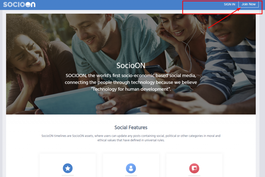 Create Account on Socioon