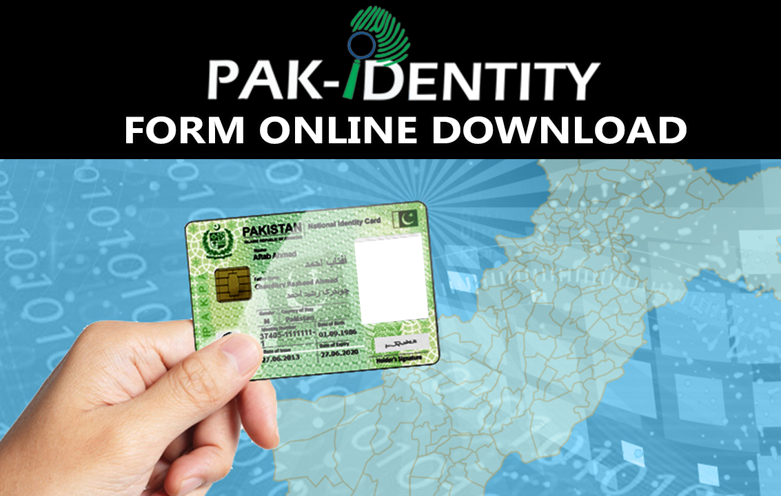 Pak Identity Card Form Download