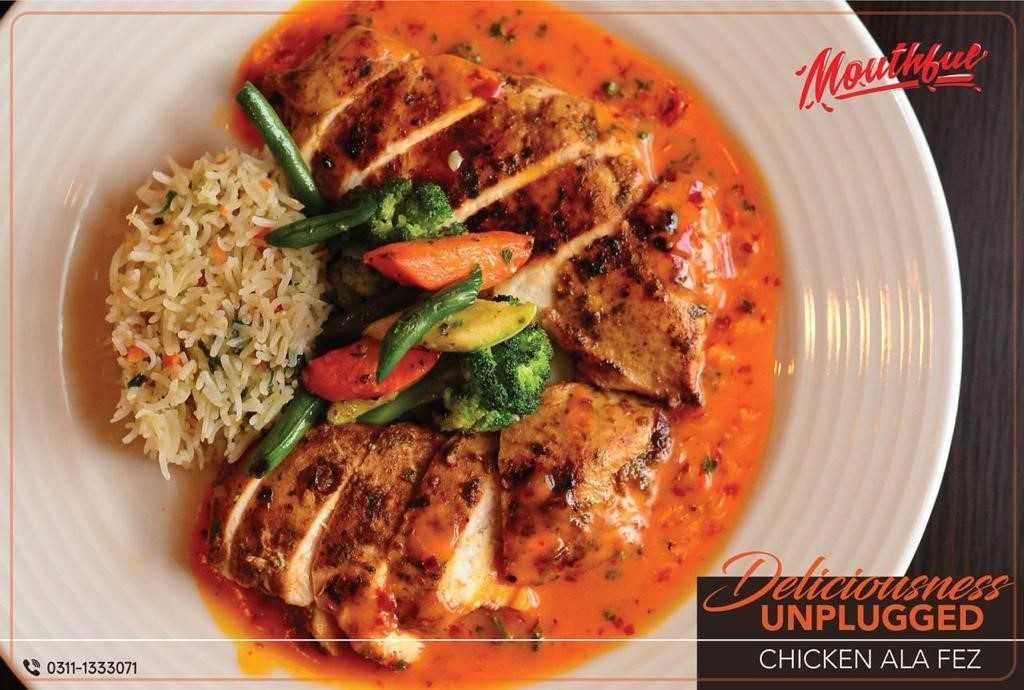 mouthful restaurant lahore mm alam road