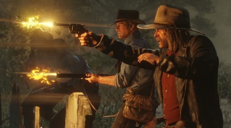 red dead 2 arthur morgan gunfight